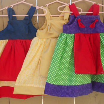 Custom Disney Princess inspired dresses, Toddler knot dress