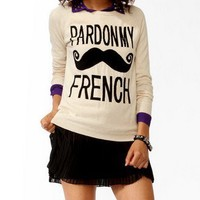 Pardon My French Sweater