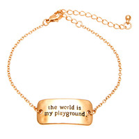 MKL Accessories Bracelet World Is My Playground in Rose Gold
