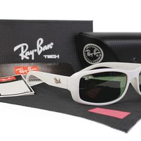 Ray Ban RB4088 White Frame Black Lens Sunglasses