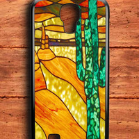 Cactus Stained Glass Samsung Galaxy S4 Case