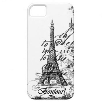 Paris Bonjour Collage Case iPhone 5 Covers