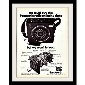 1974 Panasonic Tech RF-888 Portable Radio Ad, Vintage Advertisement Print