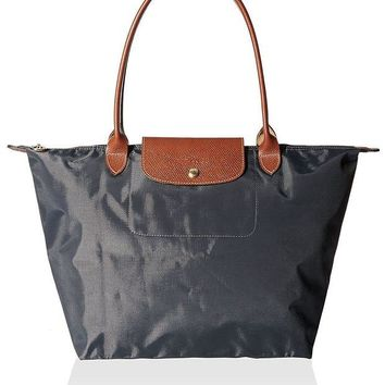 ONETOW Longchamp Women's Le Pliage Large Tote Bag, Gunmetal