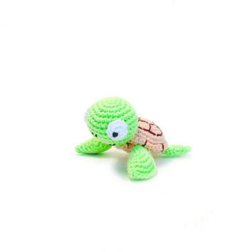 Amigurumi miniature turtle, crochet miniature turtle, gift for children, crochet miniature doll, little turtle toy, tiny animals