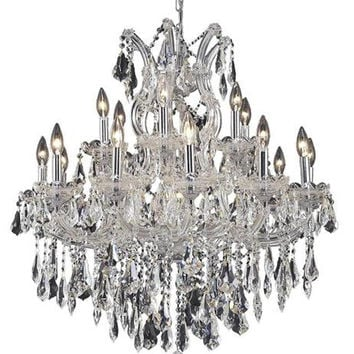 Karla - Hanging Fixture (19 Light Traditional Hanging Crystal Chandelier) - 2381D30