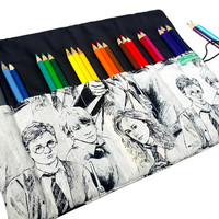 Harry Potter Pencil Case, 24 Colored Pencil Case