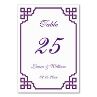 Wedding Table Number Cards | Vintage Table Cards