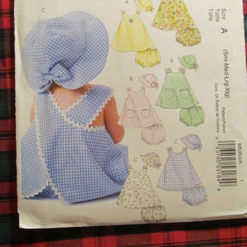 SALE Uncut McCall's Sewing Pattern, 5353! Small/Medium/Large/XL Toddlers/Kids/Children/Girls Panties/Hats/A line Dresses/Jumpers/Rompers