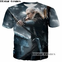 PLstar Cosmos Elfing Prince Legolas Greenleaf Orlando Bloom T-Shirt 3D print The Lord of the Rings tee tshirt Men t shirt tops
