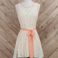 Free in Floral Lace Dress
