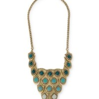 FISH SCALE BIB NECKLACE