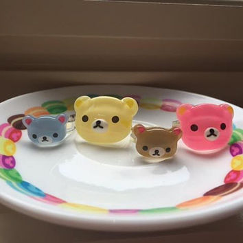 SALE! Kawaii Kuma Rings