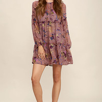 Secret Place Mauve Floral Print Dress