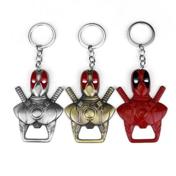 Deadpool Dead pool Taco New  metal Keychain Beer Bottle Opener Key Rings For Gift Auto Key Chaveiro support ping for car keychain AT_70_6