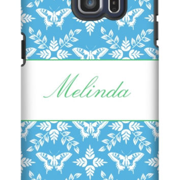 Personalized Butterfly Galaxy S6 Edge Plus Extra Protective Bumper Case