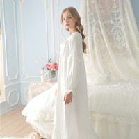 Princessy Heart 100% Cotton Lace Quality Royal Vintage Night Gown Spring