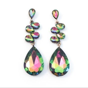 Mystic Topaz Crystal Special Occasion Earrings