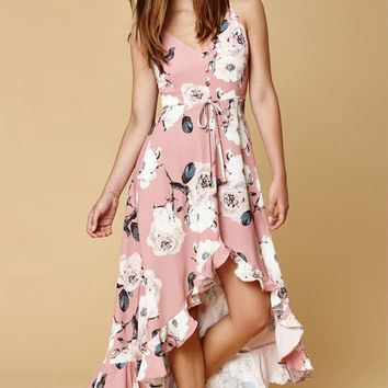 Selfie Leslie Long Printed Maxi Dress at PacSun.com