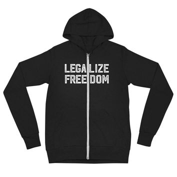 Legalize Freedom Tri-Blend Zip Hoodie