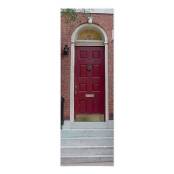 Red Door Photo Poster