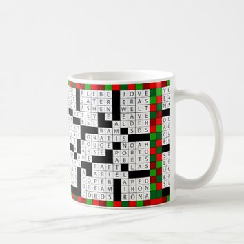 Crossword Puzzle Design on Coffee/Tea Mug