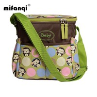 Waterproof Baby Backpack Maternity Mummy Mother Stroller Diaper Bag One-shoulder Floral Nylon Travel Nappy Bags