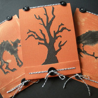 Halloween Notebook Trio, Spooky Tree, Black Cat, Raven