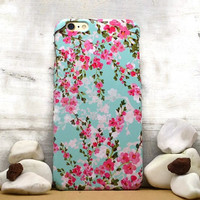 iPhone 6 case mint Floral iphone 6 plus case floral Samsung galaxy S6 case  galaxy S5 S4 mini case iphone 4 5 5C, Note 4 note 3 KG G4 Xperia