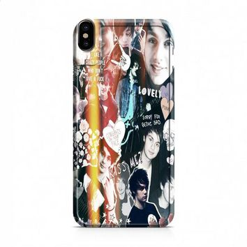 Michael Clifford collage 2 iPhone X case