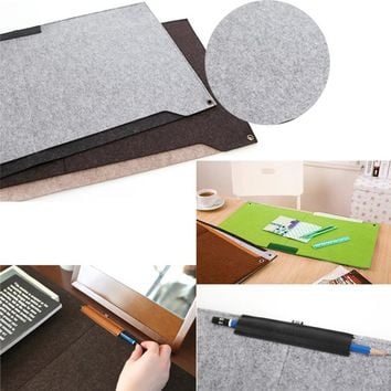New Computer Peripherals Desk Mat Modern Table Felt Office Desk Mouse Pad Holder Wool Felt Laptop Cases Cushion Mouse Pads