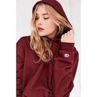 Champion autumn and winter new loose plus velvet couple tide brand long-sleeved hooded sweater red