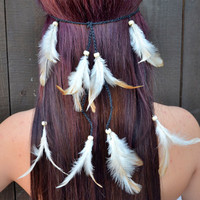 Natural Feather Headband