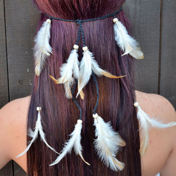 Natural Feather Headband #B1006