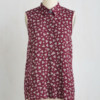Folk Art Mid-length Sleeveless Scones Away from Home Top