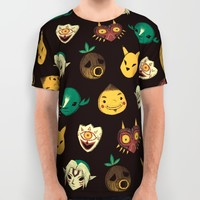 pattern of masks. All Over Print Shirt by Louis Roskosch | Society6