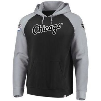 Chicago White Sox Majestic MLB Black Attitude Pullover Hoodie