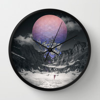 Fall To Pieces III Wall Clock by Soaring Anchor Designs | Society6