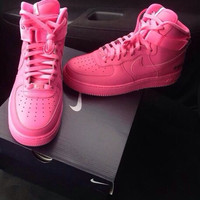 Custom Pink Air Forces