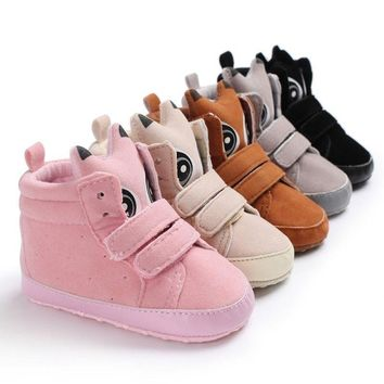 Cute Newborn Baby Boy Girl Boots Soft Sole Crib Shoes Infant Toddler Sneakers US