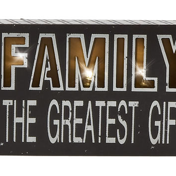 "Motivating Wood Led Wall Sign 6""W, 10""H"