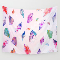 Watercolour Crystals  Wall Tapestry by Nikkistrange