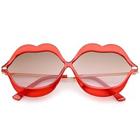 Oversize Novelty Transparent Lip Sunglasses C088