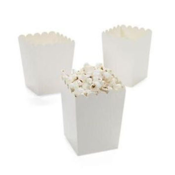 White Treat-Favor-Popcorn Boxes