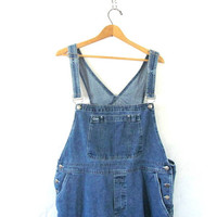 90s Bib Overalls jean shorts. bibs shorts. Women's dungarees. size XL