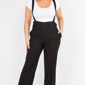 Wide Leg Overall Plus Size Pants