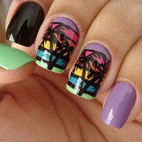 nails polyvore palm tree