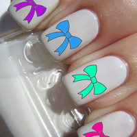 Bow Nail Decals