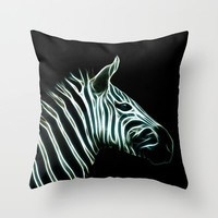 Black and white Zebra stripes Throw Pillow by Laureenr