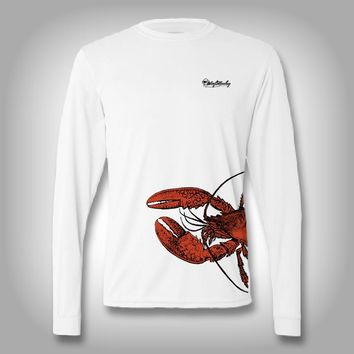 Fish Wrap Shirt -  Lobster - Performance Shirts - Fishing Shirt